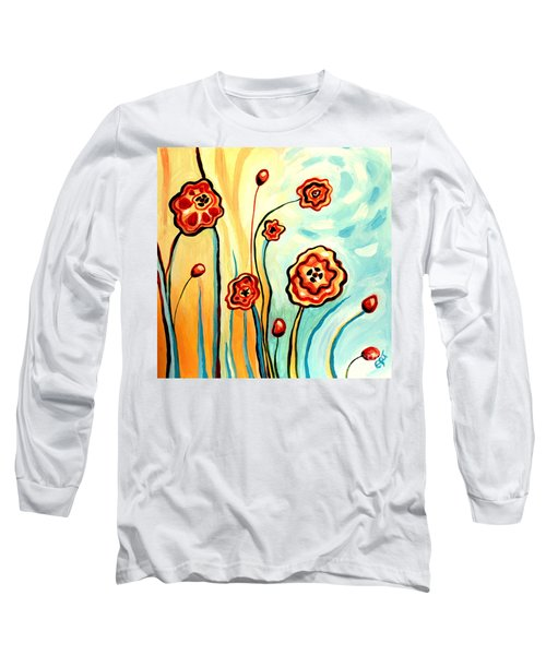 Sherbert And Powder Blue Skies Long Sleeve T-Shirt