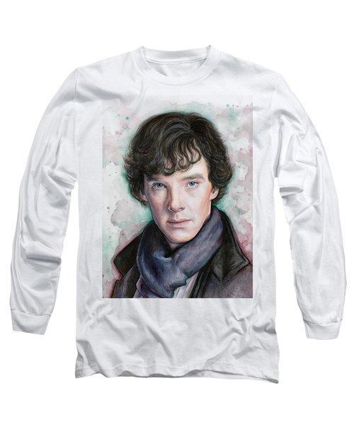 Sherlock Holmes Portrait Benedict Cumberbatch Long Sleeve T-Shirt