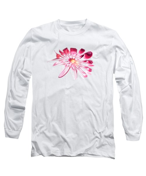 Shining Pink Flower Long Sleeve T-Shirt