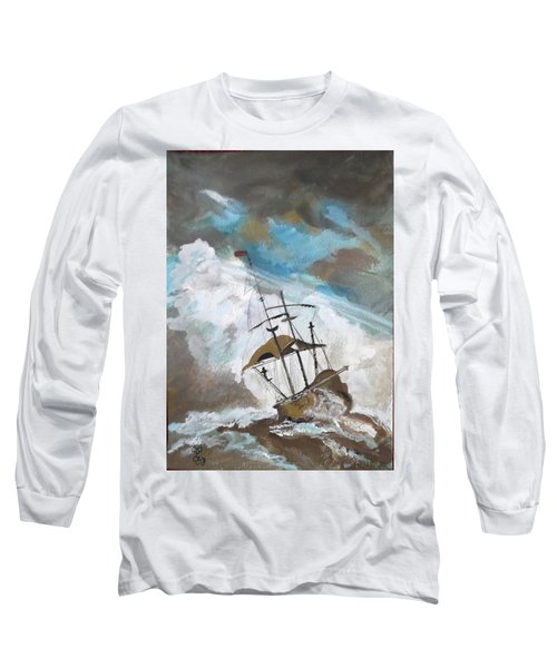 Ship In Need Long Sleeve T-Shirt by Carole Robins