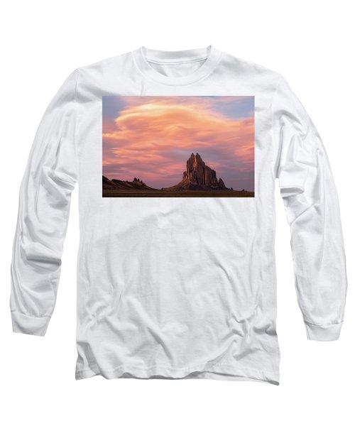 Shiprock At Sunset Long Sleeve T-Shirt