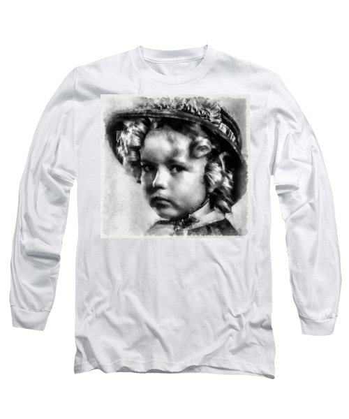 Shirley Temple Vintage Actress Long Sleeve T-Shirt