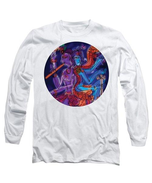 Shiva And Krishna Long Sleeve T-Shirt