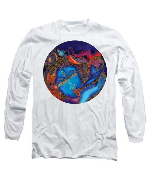 Shiva Blowing The Horn Long Sleeve T-Shirt