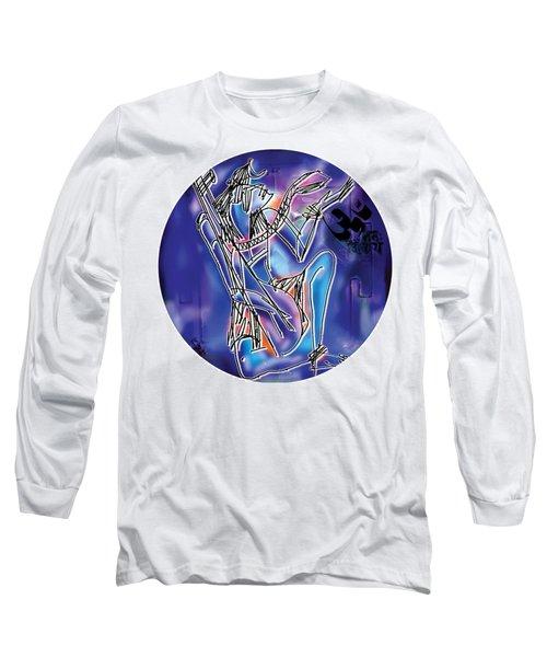 Shiva Playing Vina Long Sleeve T-Shirt