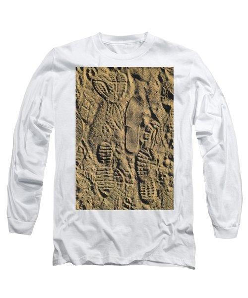 Shoe Prints II Long Sleeve T-Shirt by R  Allen Swezey