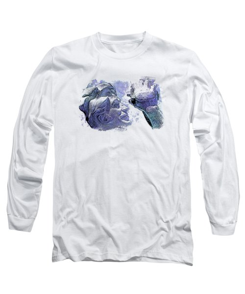 Shoot For The Sky Berry Blues 3 Dimensional Long Sleeve T-Shirt