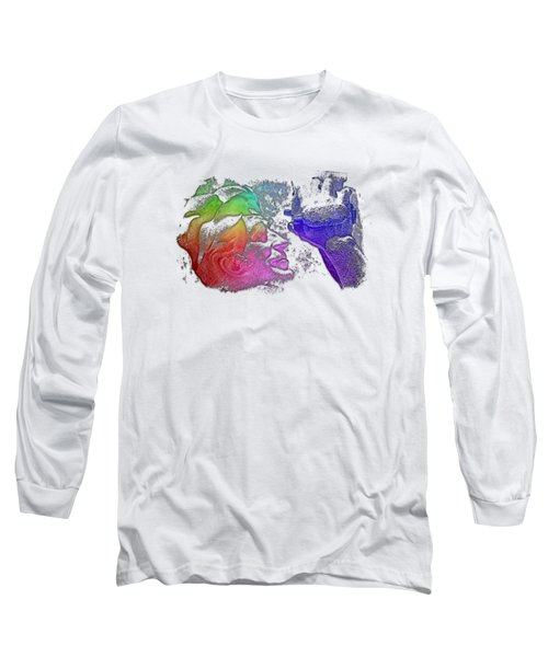 Shoot For The Sky Cool Rainbow 3 Dimensional Long Sleeve T-Shirt