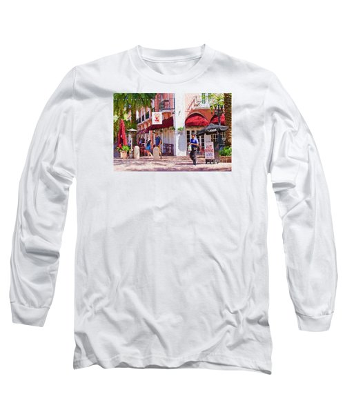 Long Sleeve T-Shirt featuring the painting Shop Til You Drop  by Judy Kay