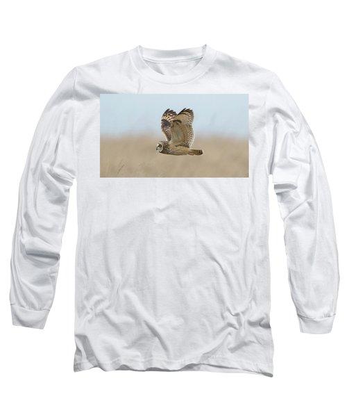 Short-eared Owl Hunting Long Sleeve T-Shirt
