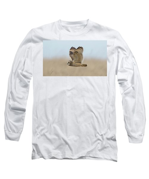 Short-eared Owl Hunting Long Sleeve T-Shirt