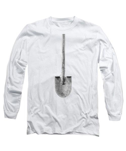 Short Handled Shovel On Plywood 72 In Bw Long Sleeve T-Shirt