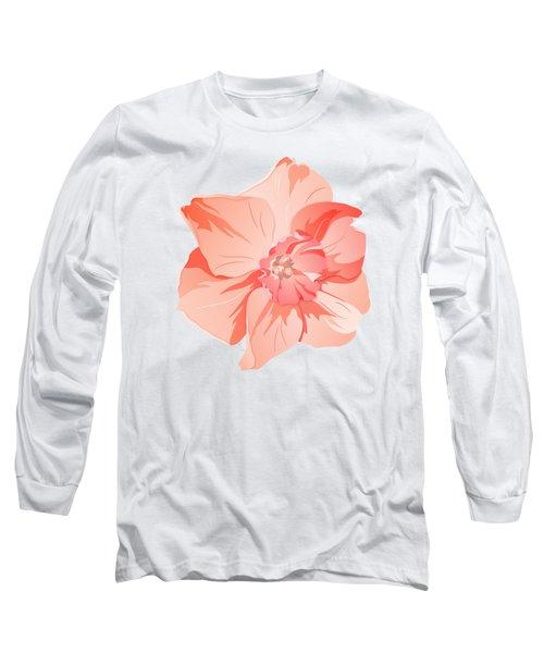 Short Trumpet Daffodil In Warm Pink Long Sleeve T-Shirt