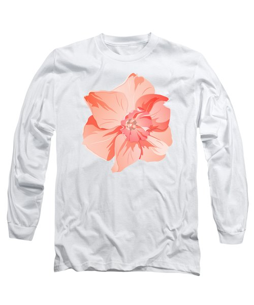 Short Trumpet Daffodil In Warm Pink Long Sleeve T-Shirt