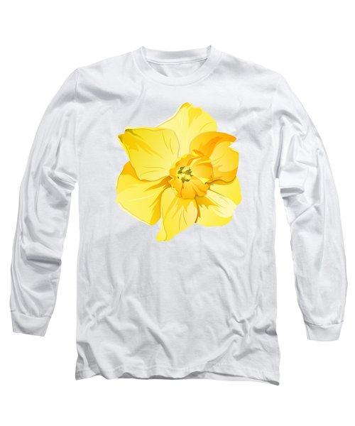 Short Trumpet Daffodil In Yellow Long Sleeve T-Shirt