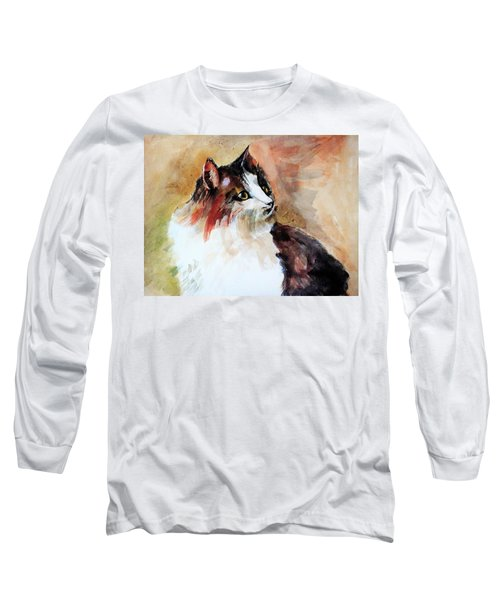 Siberian Forest Cat Long Sleeve T-Shirt by Khalid Saeed