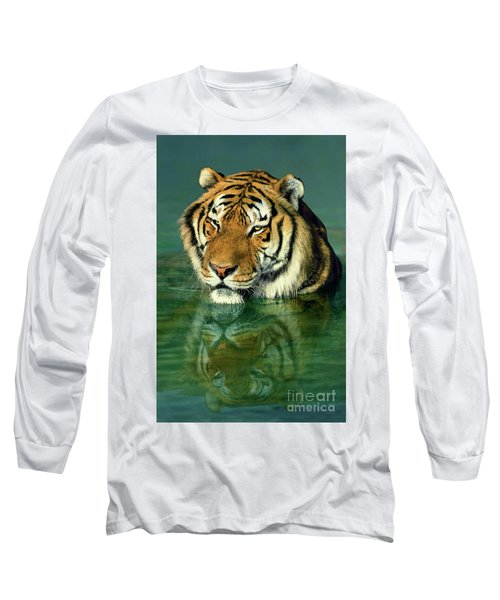Siberian Tiger Reflection Wildlife Rescue Long Sleeve T-Shirt