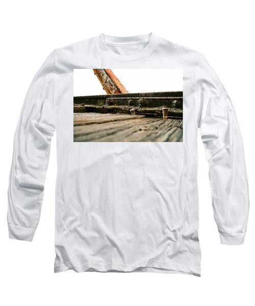 Side Of Rail #photography #trains Long Sleeve T-Shirt
