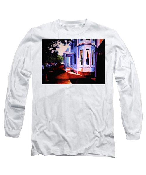 Side Street - Lambertville Long Sleeve T-Shirt by Robert Henne
