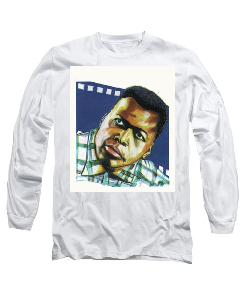 Sidney Poitier Long Sleeve T-Shirt by Emmanuel Baliyanga