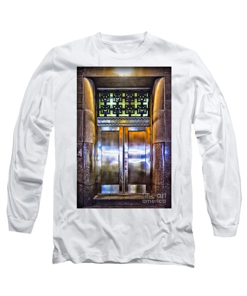 Long Sleeve T-Shirt featuring the photograph Sights In New York City - Bright Door by Walt Foegelle