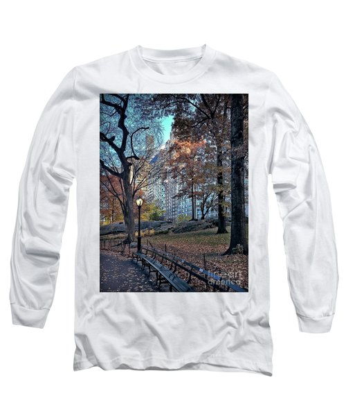 Long Sleeve T-Shirt featuring the photograph Sights In New York City - Central Park by Walt Foegelle