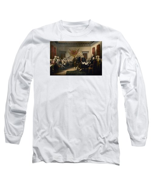 Signing The Declaration Of Independence Long Sleeve T-Shirt