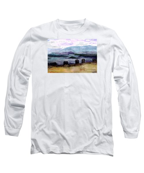 Long Sleeve T-Shirt featuring the painting Silent Sentinels by Patricia Griffin Brett