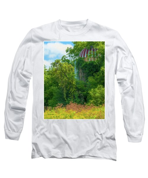 Silent Silo On Nottleson Road Long Sleeve T-Shirt by Trey Foerster