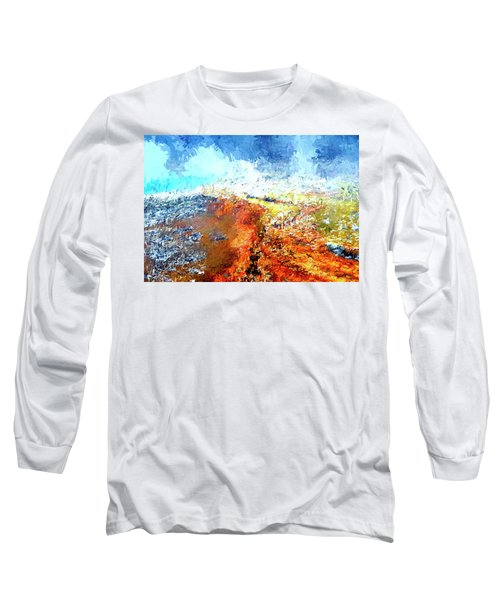 Silex Hot Springs Abstract Long Sleeve T-Shirt