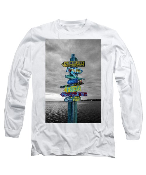Silly Lily Fishing Station Sign Long Sleeve T-Shirt