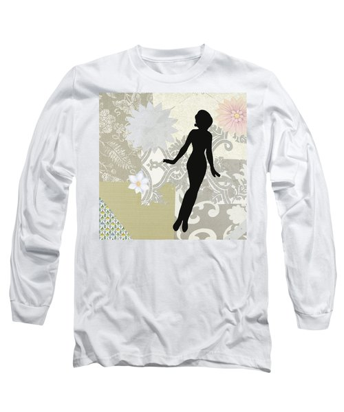 Silver Paper Doll Long Sleeve T-Shirt