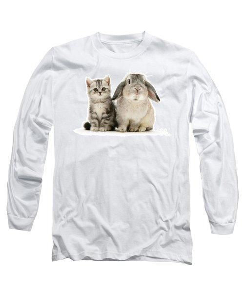 Silver Tabby And Rabby Long Sleeve T-Shirt
