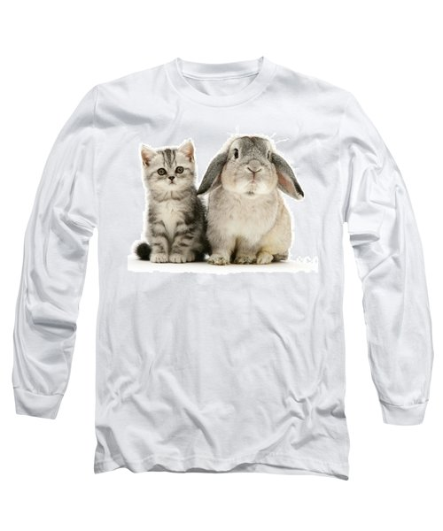 Silver Tabby And Rabby Long Sleeve T-Shirt