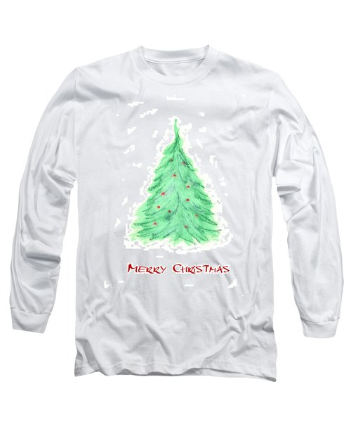 Simple Christmas Card 2 Long Sleeve T-Shirt by Marna Edwards Flavell