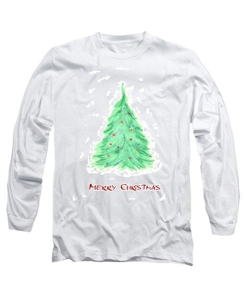 Simple Christmas Card 2 Long Sleeve T-Shirt