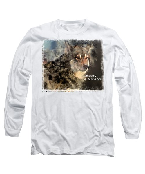 Simplicity Is Everything -light Long Sleeve T-Shirt by Elaine Ossipov