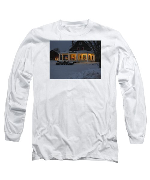 Long Sleeve T-Shirt featuring the photograph Simply Elegant Porch by Judy Johnson