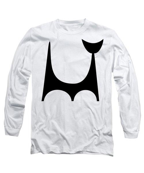 Single Cat 2 Transparent Long Sleeve T-Shirt