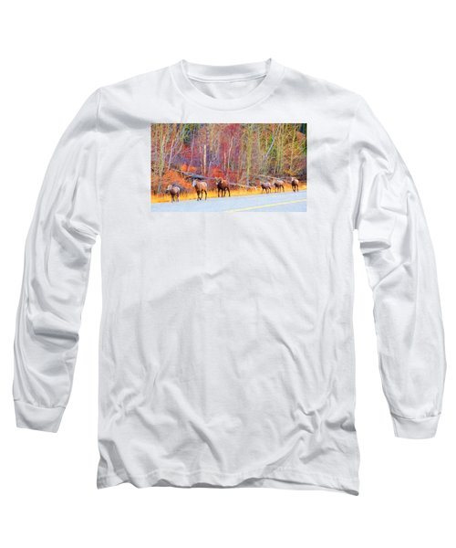 Single File For Safety Long Sleeve T-Shirt