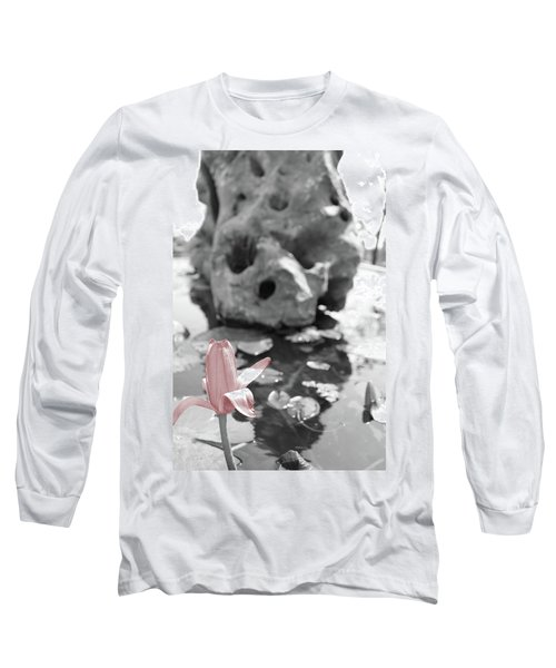 Single Pink Flower Long Sleeve T-Shirt