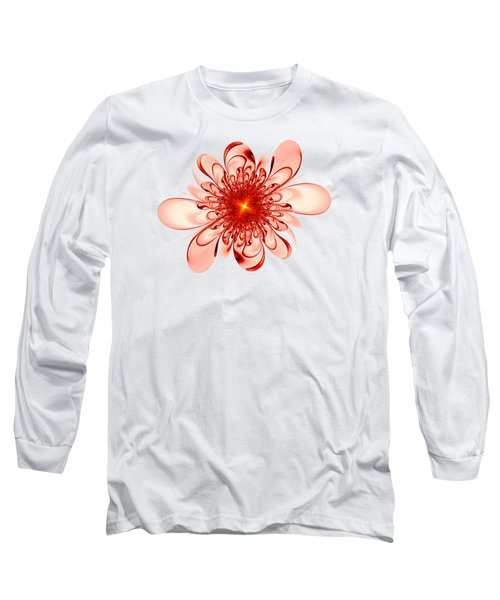 Single Red Flower Long Sleeve T-Shirt