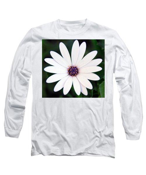 Single White Daisy Macro Long Sleeve T-Shirt