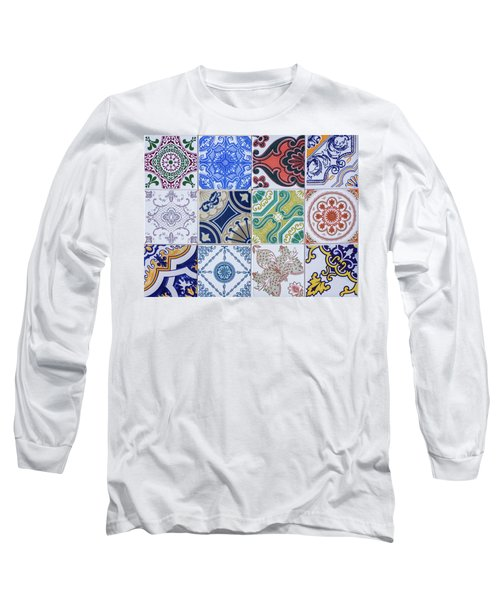 Long Sleeve T-Shirt featuring the photograph Sintra Tiles by Carlos Caetano