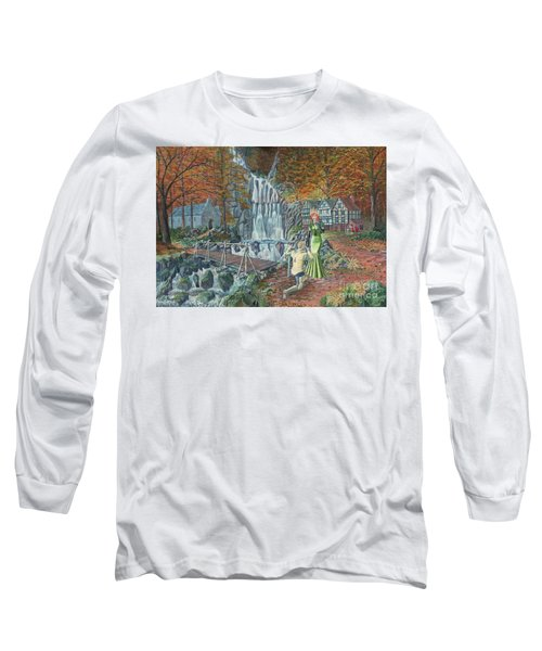 Long Sleeve T-Shirt featuring the painting Sir Galahad Becomes Queen's Champion by Anthony Lyon