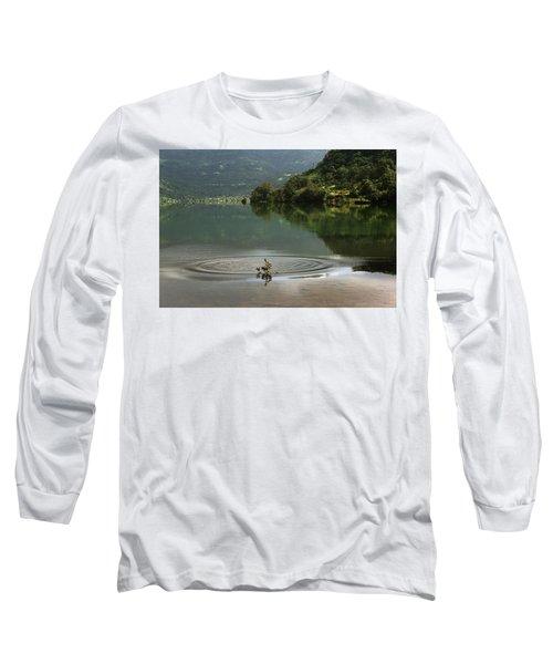 Skc 3996 At The Edge Of A Circle Long Sleeve T-Shirt by Sunil Kapadia