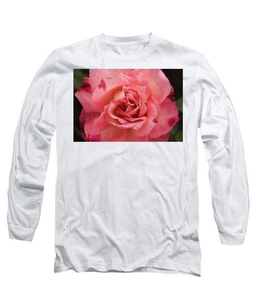 Skc 4942 The Pink Harmony Long Sleeve T-Shirt by Sunil Kapadia