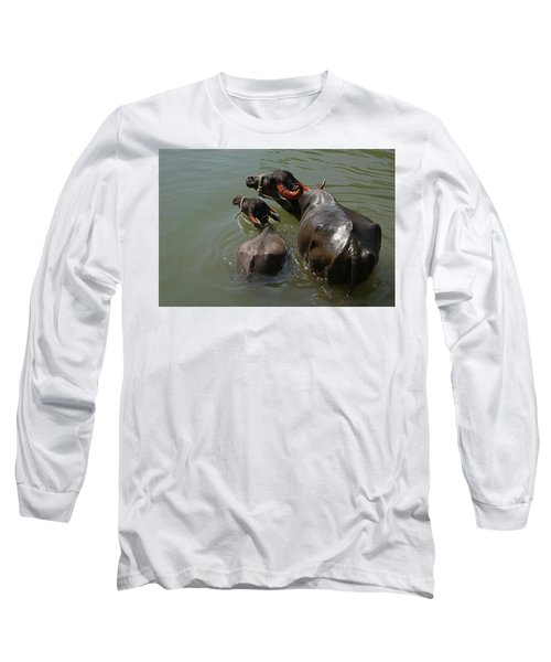 Skc 5603 The Coolest Way Long Sleeve T-Shirt by Sunil Kapadia