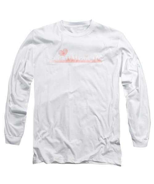 Sketch Of The City Skyline Long Sleeve T-Shirt