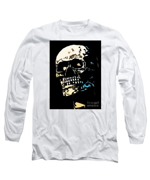 Skull Against A Dark Background Long Sleeve T-Shirt
